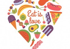 Free vector Eat is love #4369