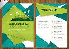 Free vector Environmental brochure #9162