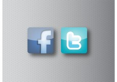 Free vector Facebook and Twitter Icons #8236