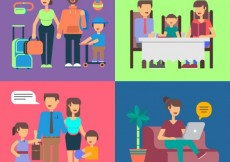 Free vector Familiar situations icons #10834