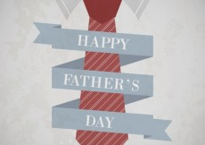 Free vector Fathers day card with a tie #5730