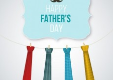 Free vector Fathers day card with hanging neck ties #5288