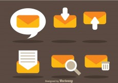 Free vector Flat SMS Vector Icons #5833