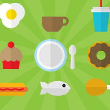 Free vector Flat Style Food Vectors 01 #4503