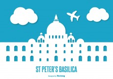 Free vector Flat Style St Peter's Basilica Illustration #6477