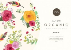 Free vector Floral card template #7547