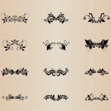 Free vector Floral Decoration Vector Element Collection #4997