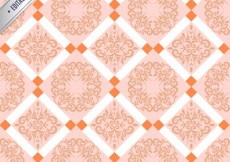 Free vector Floral retro pattern #6863