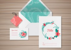 Free vector Floral stationery #6020