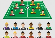 Free vector Football field with players #5131