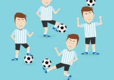 Free vector Football players #4588