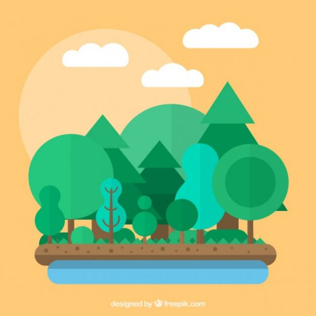 Free vector Forest in flat design #7018