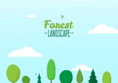 Free vector Forest landscape #4079