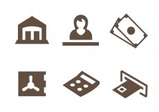 Free vector Free Bank Icons Vector #4104