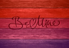 Free vector Free Be Mine In Wood Vector Card #11870
