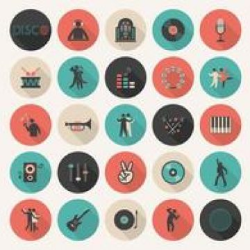Free vector Free Flat Music Vector Icon Set #4859