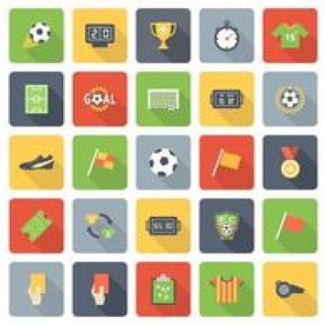 Free vector Free Flat Soccer Vector Icons #4865