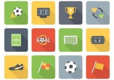 Free vector Free Flat Soccer Vector Icons Two #4825