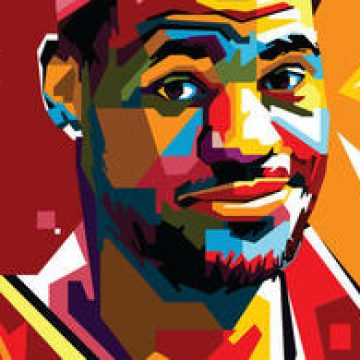 Free vector Free Lebron Vector Portrait Two #4690