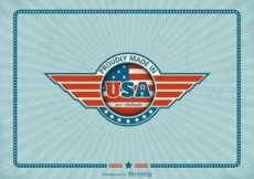 Free vector Free Made In USA Retro Vector Label #4473