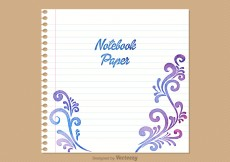 Free vector Free Notebook Paper Vector Background #4040