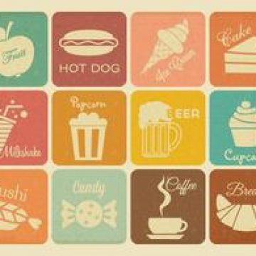 Free vector Free Retro Drink And Food Vector Icons #4786