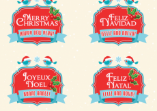 Free vector Free Royalty-Free Vectors to Say Merry Christmas & Happy New Year #5599