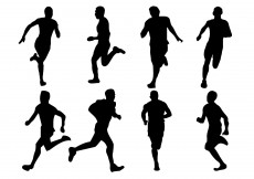 Free vector Free Running Silhouette Vector #6463
