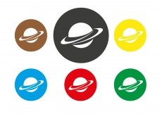 Free vector Free Saturn Planet Icon Vector #10406