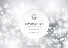 Free vector Free Silver Glitter Vector Background #4035