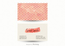 Free vector Free Vector Chevron Business Card Template #6255