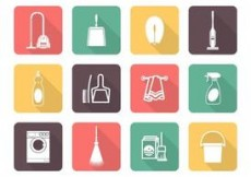 Free vector Free Vector Cleaning Icons #4652