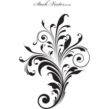 Free vector Free vector engraved flower #9773