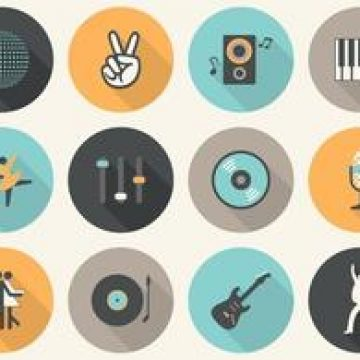 Free vector Free Vector Flat Music Icons #4834