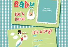 Free vector Free Vector Graphics to Introduce Your New Baby Boy #6033