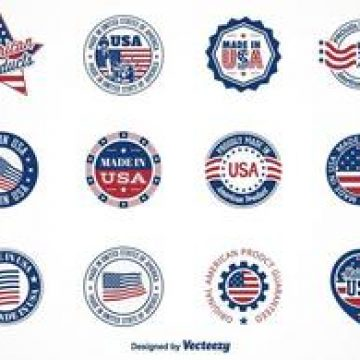 Free vector Free Vector Made In USA Labels #4439