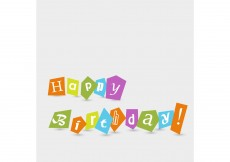 Free vector Free Vector of the Day #188: Happy Birthday Text #8513
