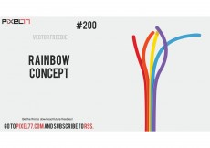Free vector Free Vector of the Day #200: Rainbow Concept #8449