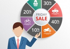 Free vector Friday sale infographic #12075