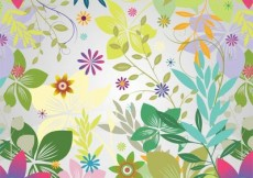 Free vector Funky Flower Garden Colorful Background #7382