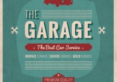 Free vector Garage poster in retro style #11206