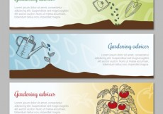 Free vector Gardening advices banners #8588