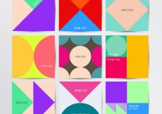 Free vector Geometric cards collection #7371