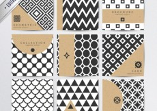 Free vector Geometric patterns in modern style #7137
