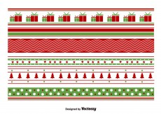 Free vector Geometrical Christmas Patterns #5232