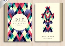 Free vector Geometrical notebook cover #4348