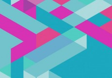 Free vector Geometry abstraction in pink and blue tones #6875