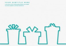Free vector Gifts silhouettes template #9314