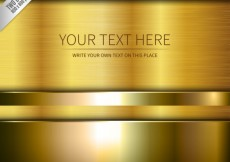 Free vector Gold background template #3984