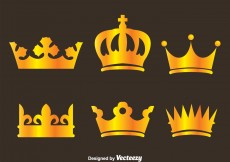 Free vector Gold Crown Logo Vectors #4576